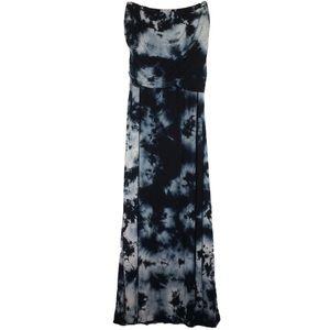 WD•NY Blue Tie-Dye Strapless Maxi Dress